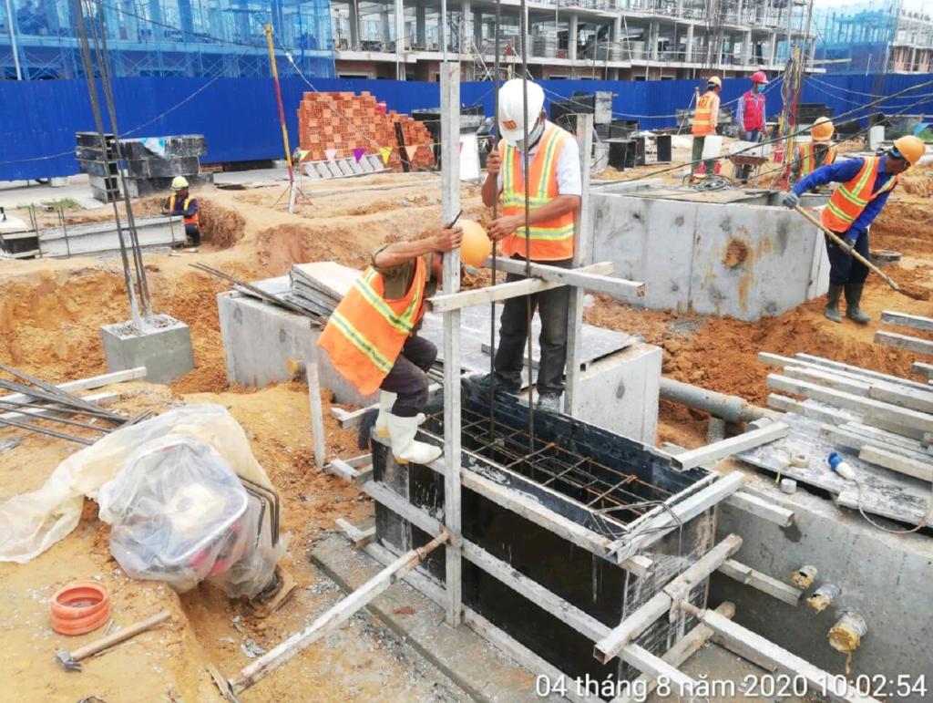 Cập Nhật Tiến Độ Công Trình Suncasa Project 5/8/2020