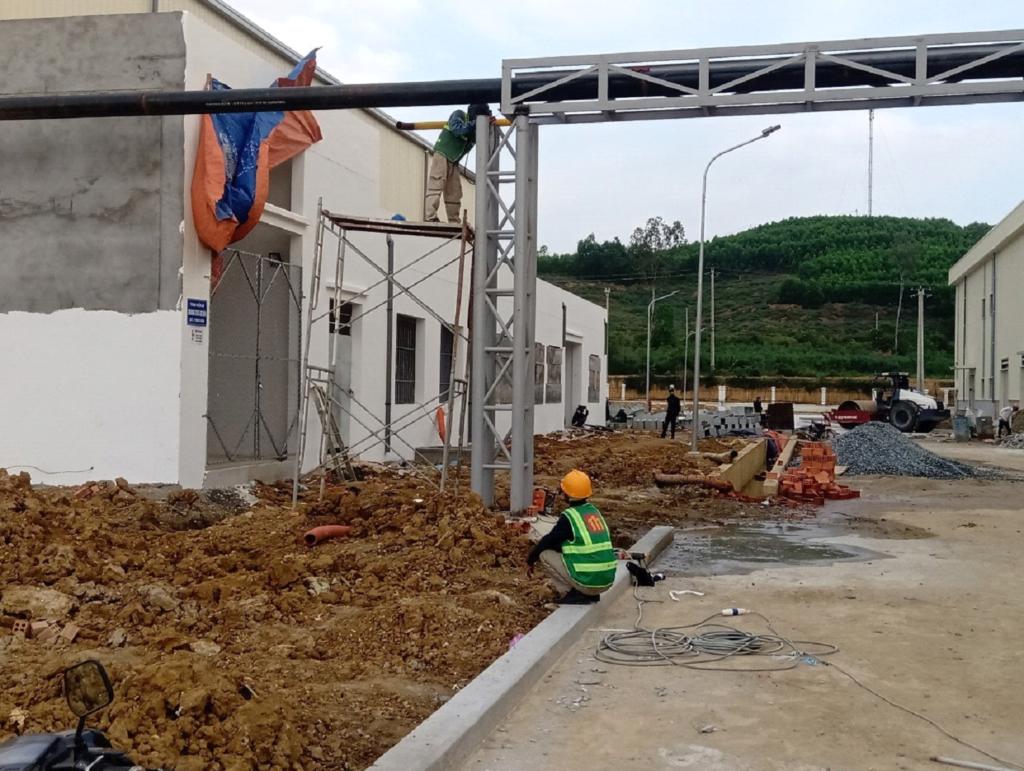 Cập nhật tiến độ công trình Xindadong Textiles – Dung Quất ngày 2/02/2020