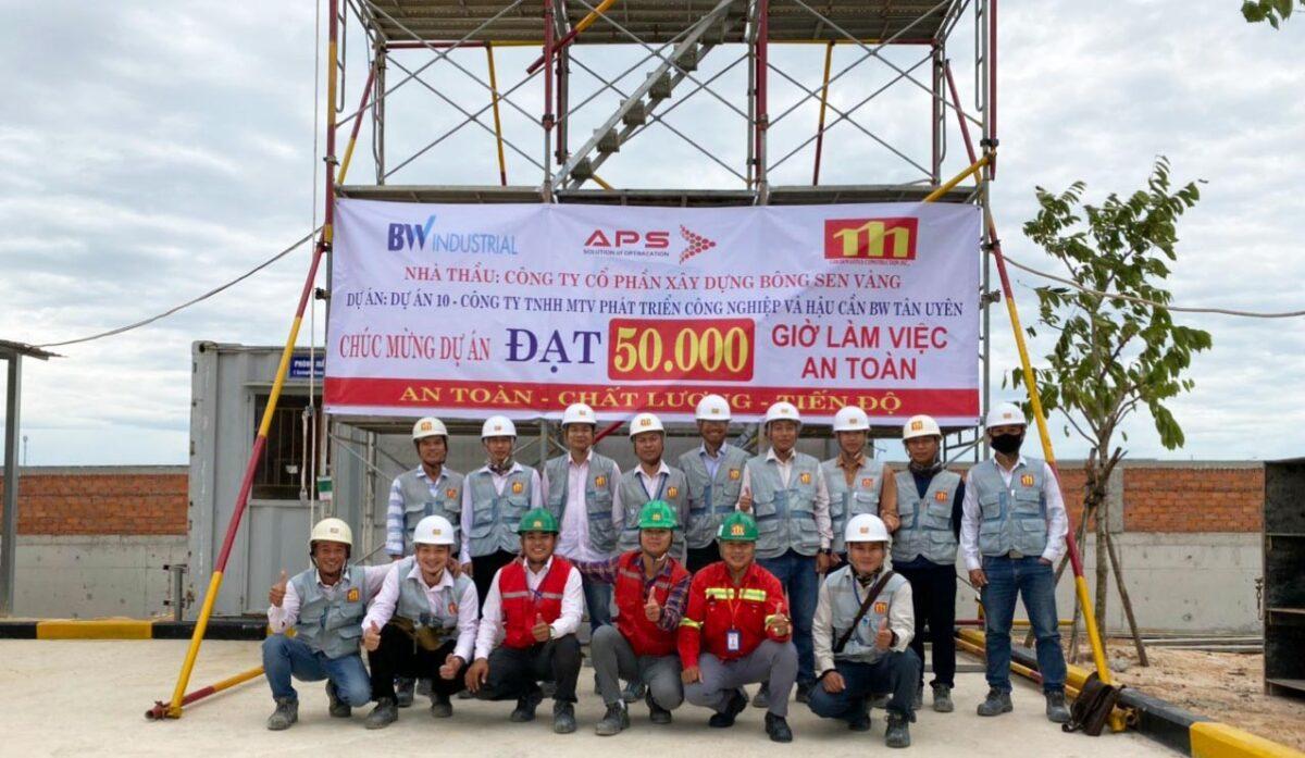 Dự án BW VSIP IIA đạt 50.000 giờ làm việc an toàn
