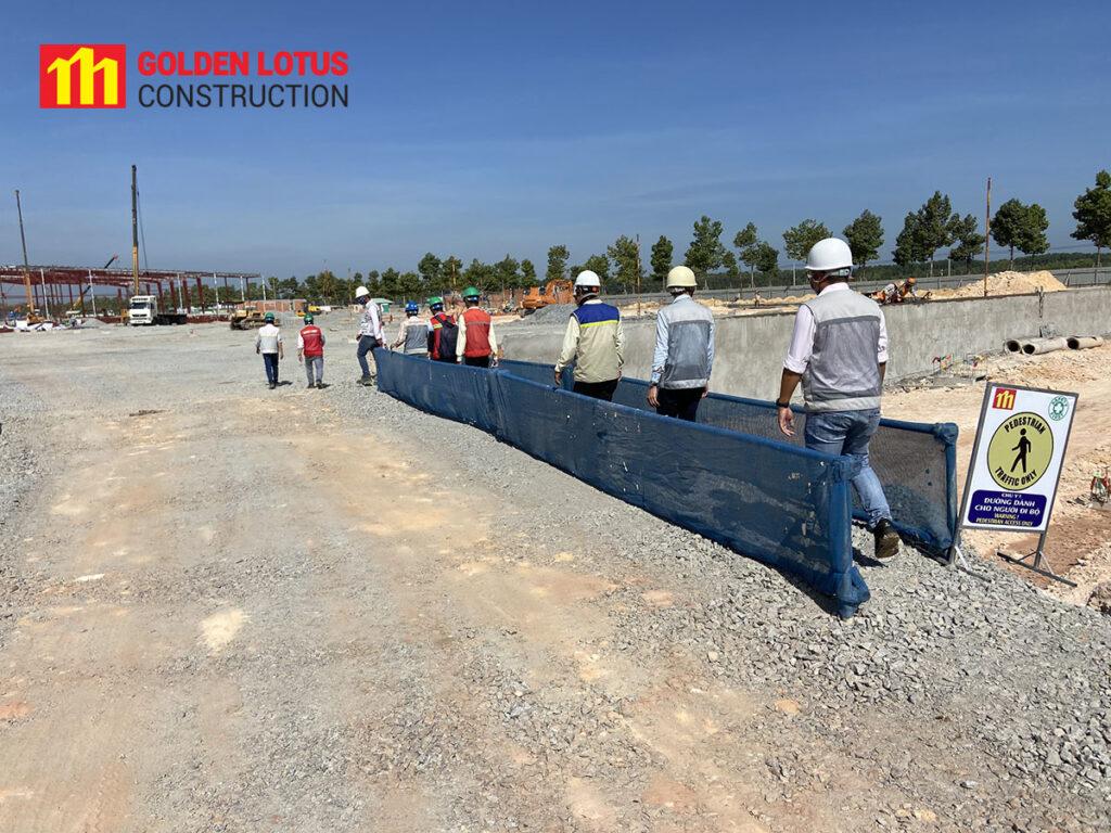 Dự án 08 BW Thới Hòa tiến hành lắp dựng cột kèo thép khu vực A7