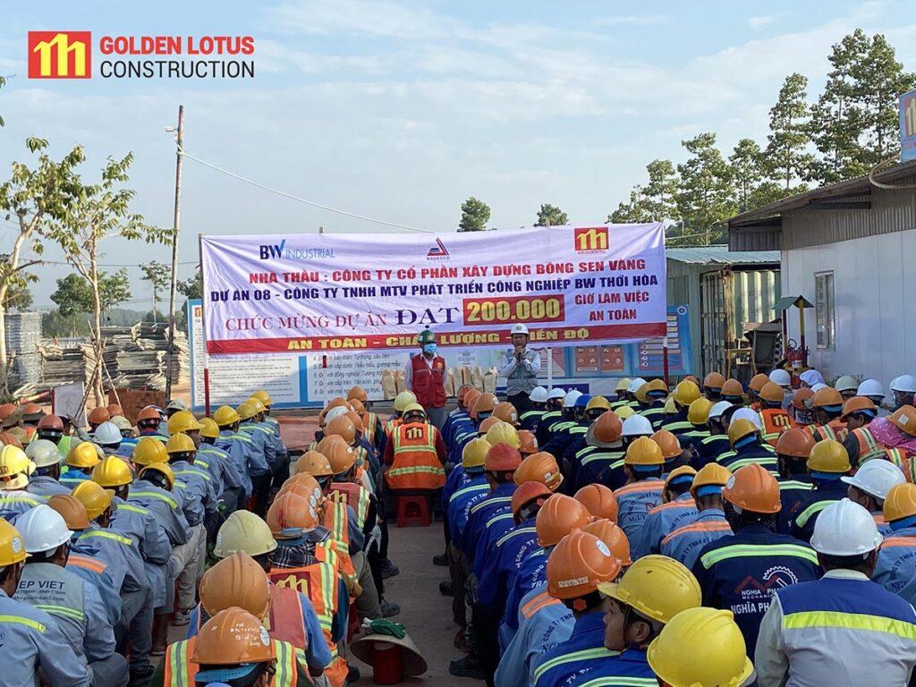 Dự án 08 BW Thới Hòa đạt 200.000 giờ làm việc an toàn